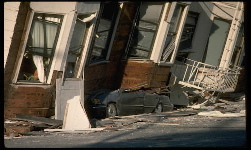 The damage caused to the San Francisco area by the Loma Prieta earthquake in October 1989.